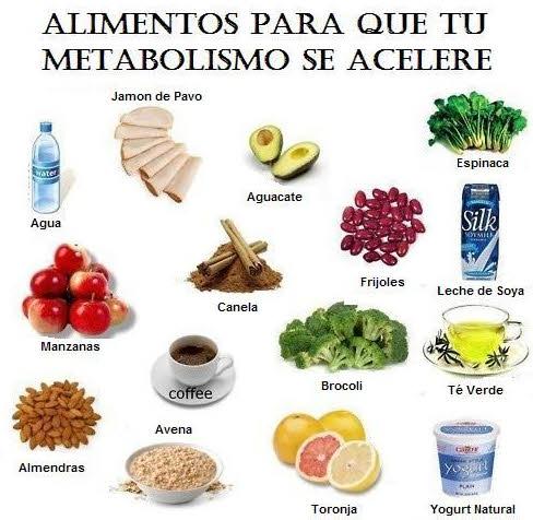 Acelera tu metabolismo con estos alimentos