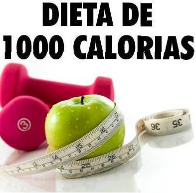 la dieta de las 1000 calorias