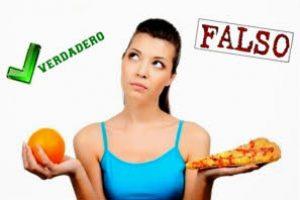 Creencias falsas en la alimentacion