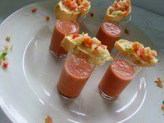 gazpacho en chupitos
