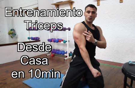 Como entrenar Triceps desde casa en 10 minutos