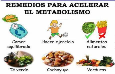 cosas para acelerar metabolismo