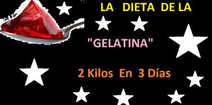 dieta gelatina 2 kilos en 3 dias