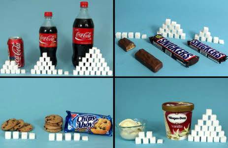 cosas con mucha azucar