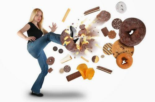 comida basura fuera de la dieta fitness