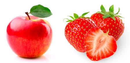 manzanas y fresas para adelgazar