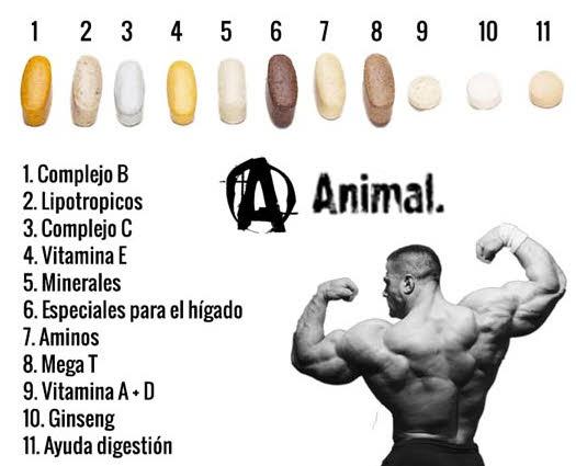 Animal pak el suplemento de vitaminas